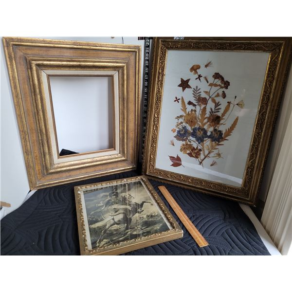 old raised embelished photo frames. Need repair.
