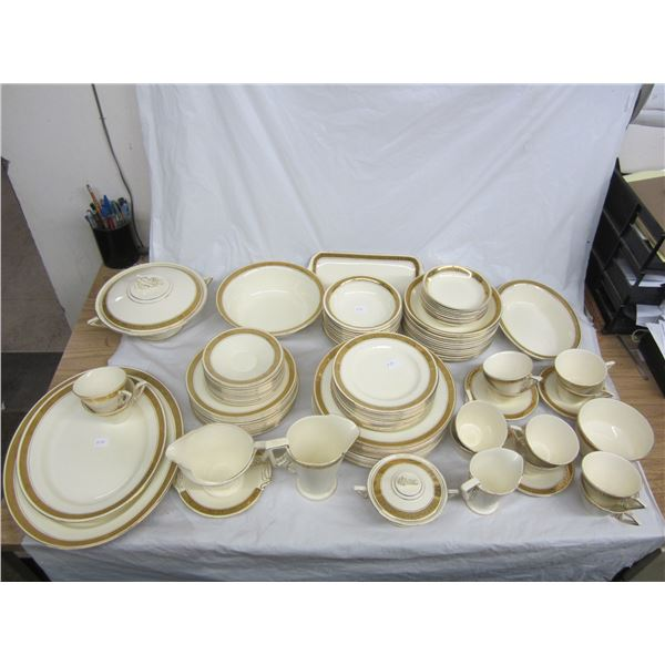 Large and Gold Burleigh Ware Art Deco China Dinner Set decent condition