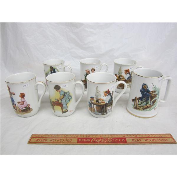 7 Norman Rockwell Coffee Mugs