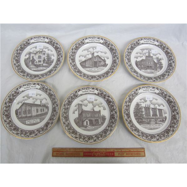 Set of 6 Indian Head Saskatchewan Collectors Plates 7 and 7/8 inches