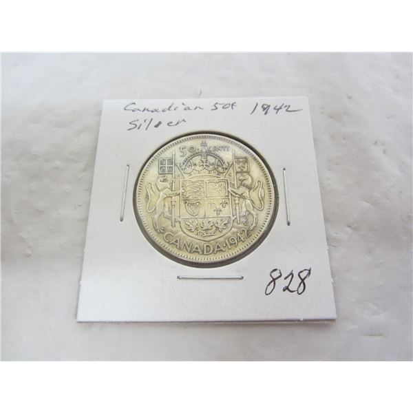 Canadian 1942 Fifty Cent Piece