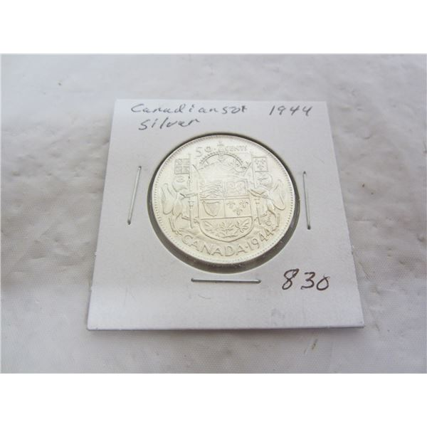 Canadian 1944 Fifty Cent Piece