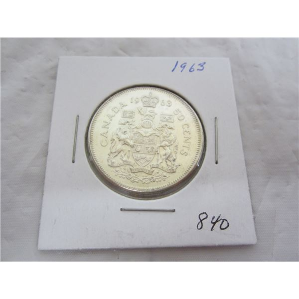 Canadian 1963 Fifty Cent Piece