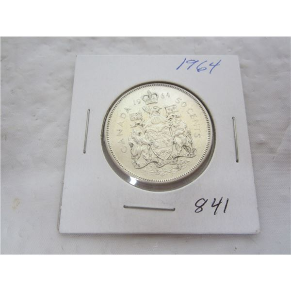 Canadian 1964 Silver Fifty Cent Piece