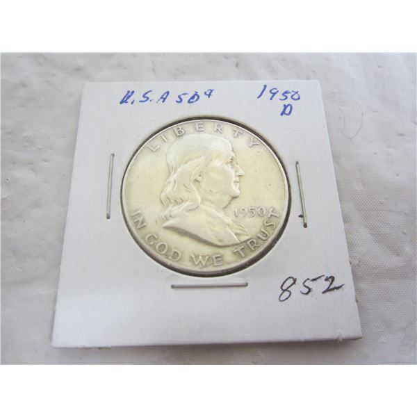 Benjamin Silver 1950 D Fifty Cent Piece