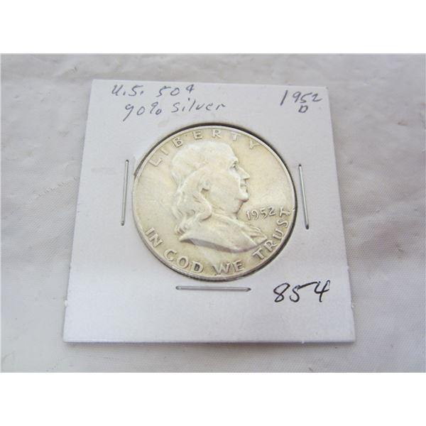 Benjamin Silver 1952 D Fifty Cent Piece