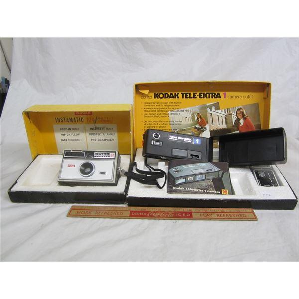2 Kodak Cameras and boxes