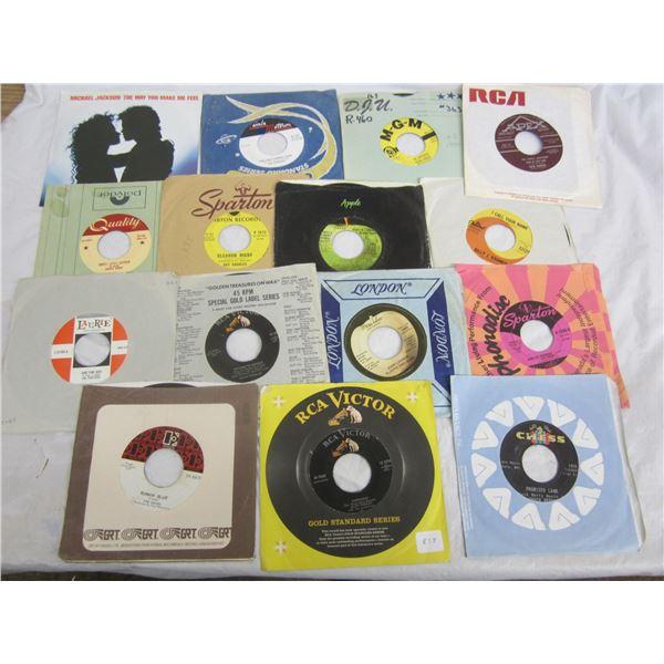 14 Rock and Roll 45's Chuck Berry, Elvis, Doors ect.