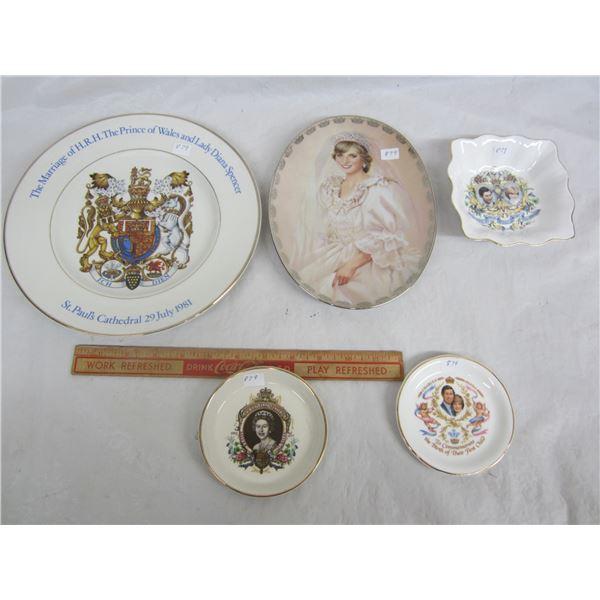 5 Pieces of Royalty China no damage