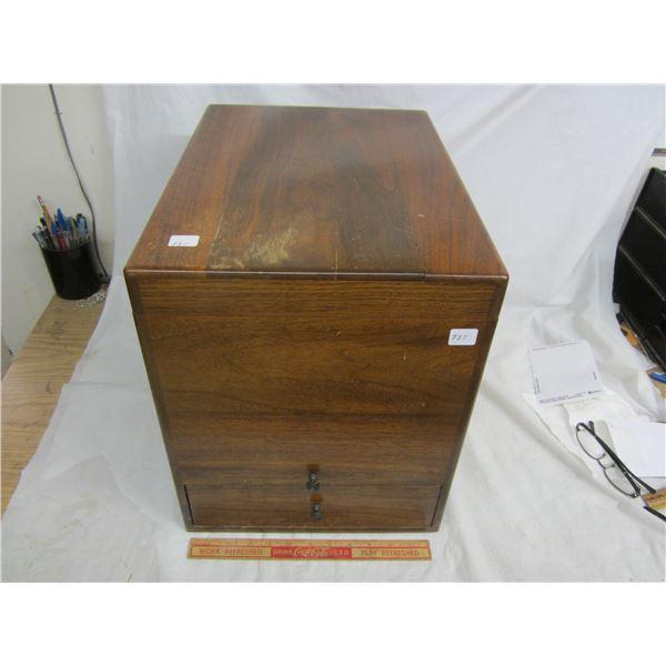 Antique British American Paint Walnut Cabinet