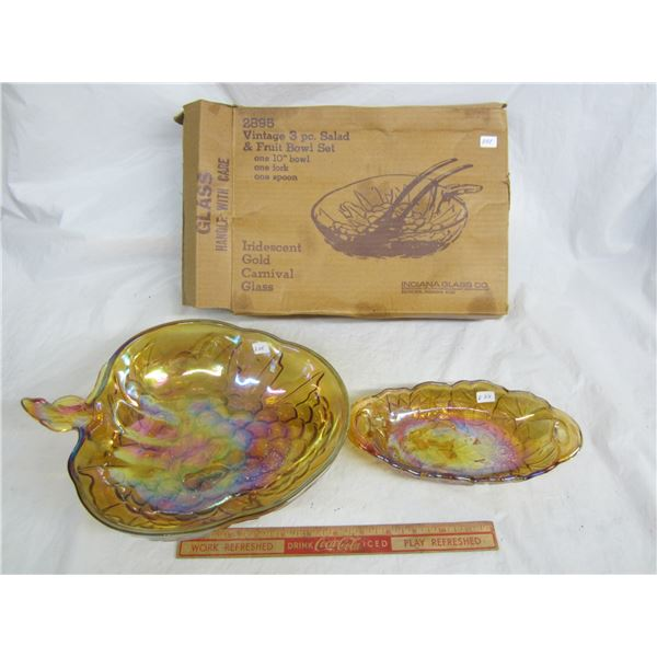 2 Pieces of Indiana Carnival Glass