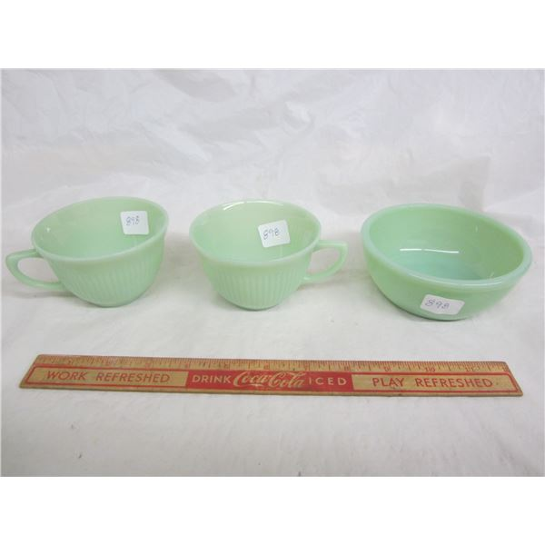 Lot of 3 Fire King Items small bowl and 2 cups