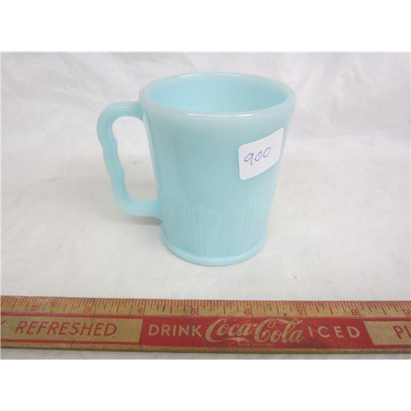 Rare Delphite Pyrex Mug Chaline Pie Crust Blue Mug