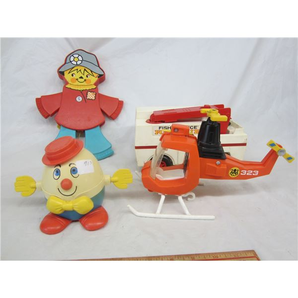 Lot of 4 Vintage Fisher Price Toys
