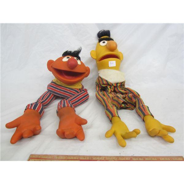 Lot of 2 Sesame Street Puppets Bert and Ernie