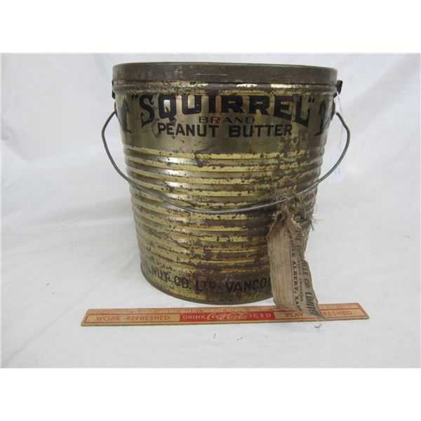 Antique Squirrel Brand Peanut Butter Store Display Can