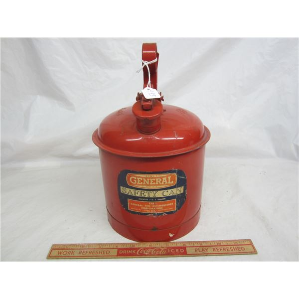 Antique Genral Safety Can made by Eagle