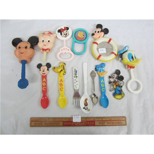 Lot of 13 Vintage Disney Mickey Movie Items