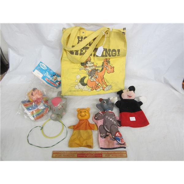 Lot of 6 Disney Items Puppets ect.
