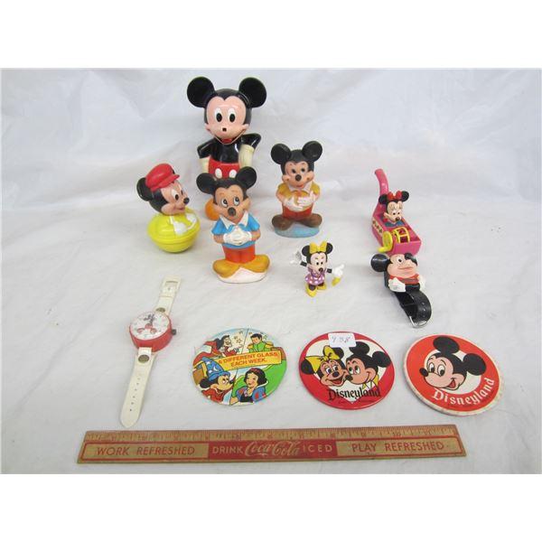 Lot of 11 Disney Mickey Items