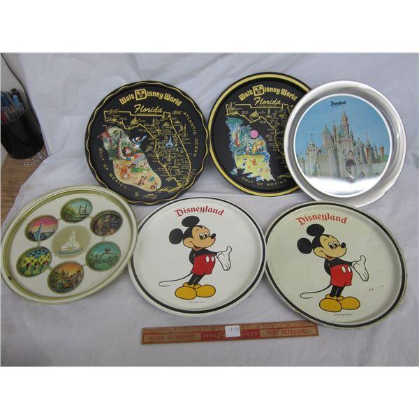 Lot of 6 Disneyland Trays