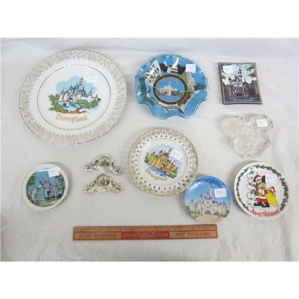 Lot of 9 Disneyland Souvenir Dishes
