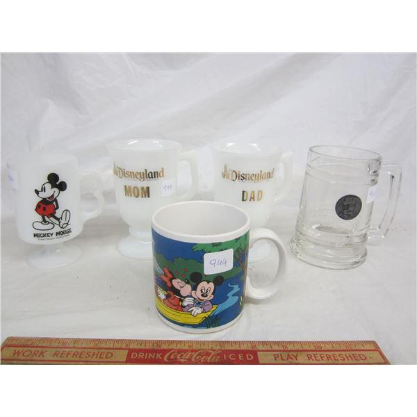Lot of 5 Disney Souvenir Mugs Lot of 3