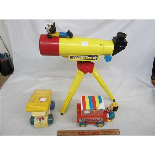 Disney Mickey items Telescope ect