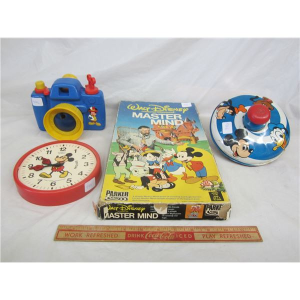 Lot of 4 Disney Items Master Mind Game ect.