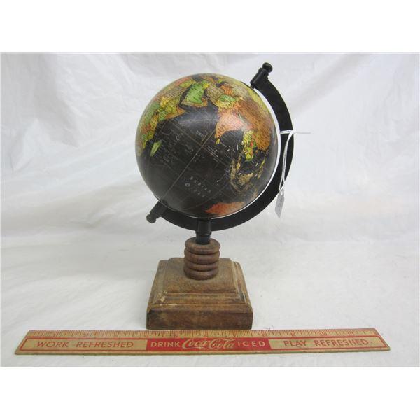 Black World Globe