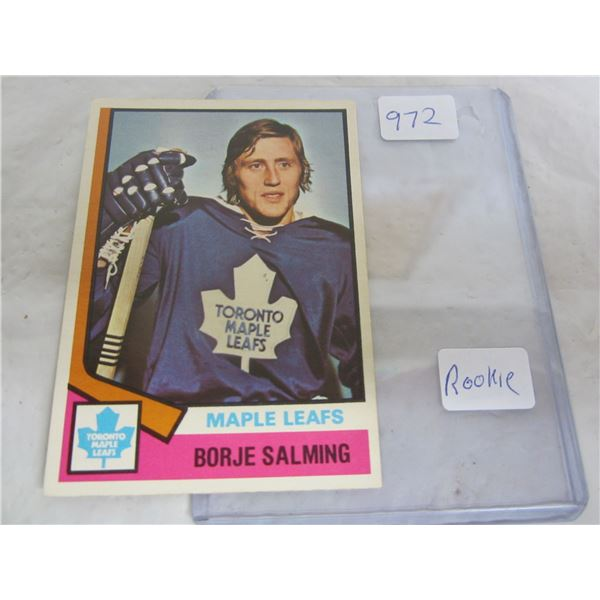 Borje Salming 1973-1974 Rookie Hockey Card O-Pee-Chee