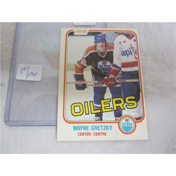 Wayne Gretsky 3rd Year Hockey Card 1981 O-Pee Chee