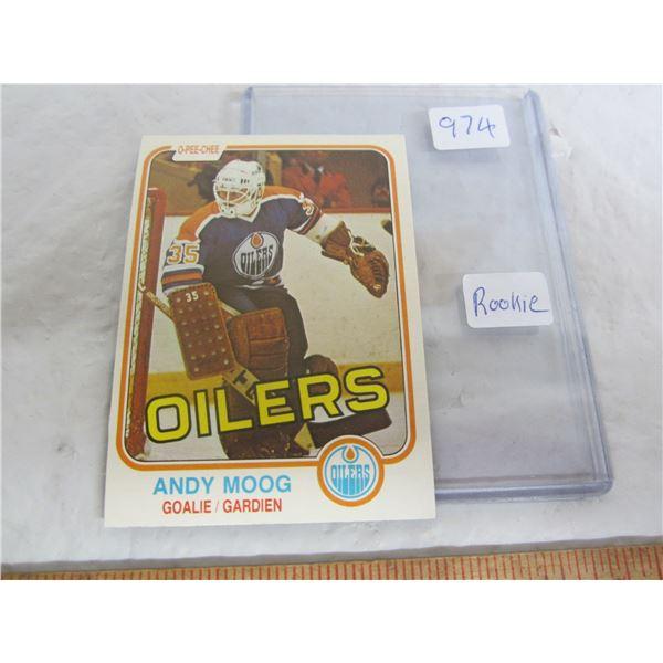 Andy Moog Hockey Rookie Card 1981 O-Pee-Chee