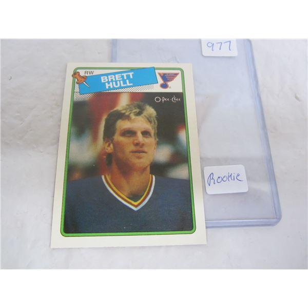 Brett Hull Hockey Rookie Card 1988 O-Pee-Chee