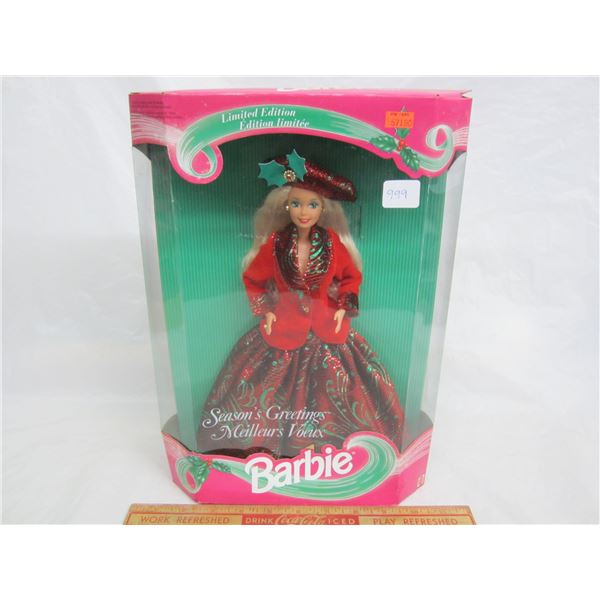 Season's Greetings Barbie 1994 in Box