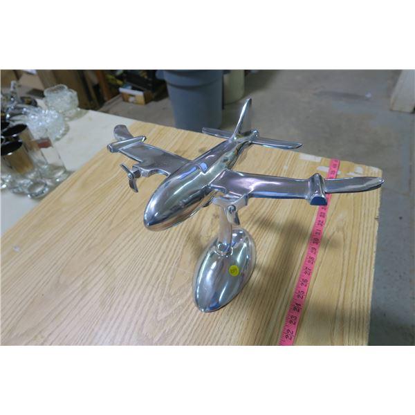 Metal Plane on Stand
