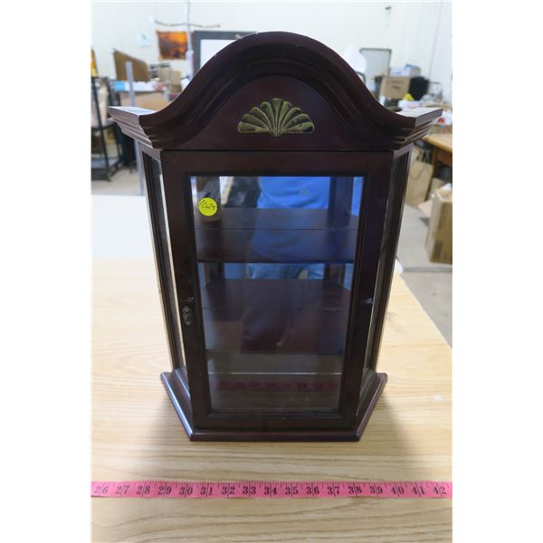 Small Hanging Display Cabinet with Glass Door