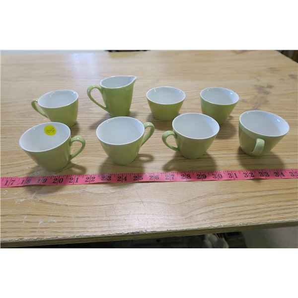 6 Tea Cups and Sugar and Tea Cups
