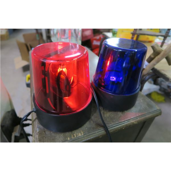 Siren Lights X2 (Blue needs Bulb) WORKING - Red and Blue