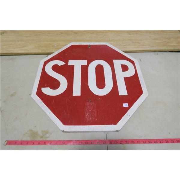 Wood Stop Sign