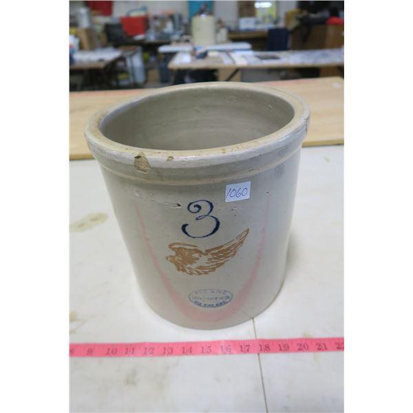 Redwing Union Stoneware 3 Gallon Crock