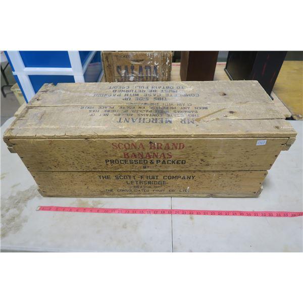 Scona Bananas Wood Crate