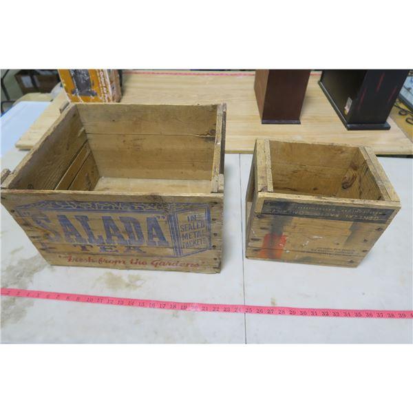 Wood Crates X2 - Selada Tea and General Radio Company