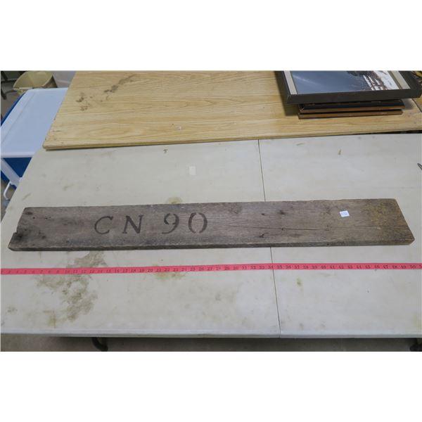 "48.5"" wood Board Stamped CN90"