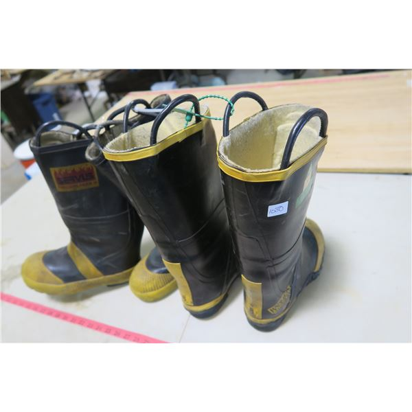 Ranger Shoe-Fit and Servus Fire Breaker Size 8 Fireman Boots