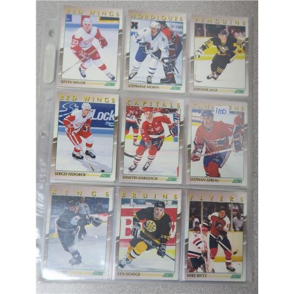91-92 SCORE Young Superstars Hockey Cards - 40 Card Complete Set