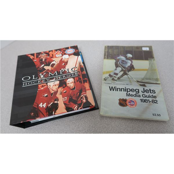 Winnipeg Jets Media Guide 81-82 and Olympic Hockey Heroes Book