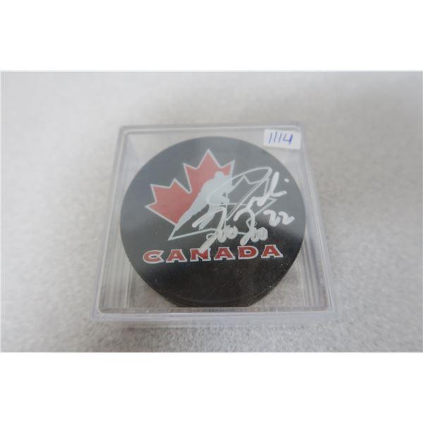 Jordin Tootoo SIGNED Hockey Puck (Frozen Pond)