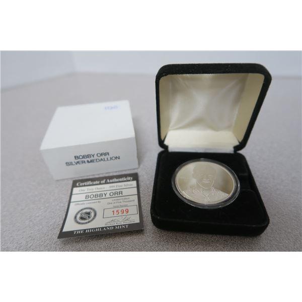 Bobby Orr Official Silver Medallion - 1oz .999 Fine Silver