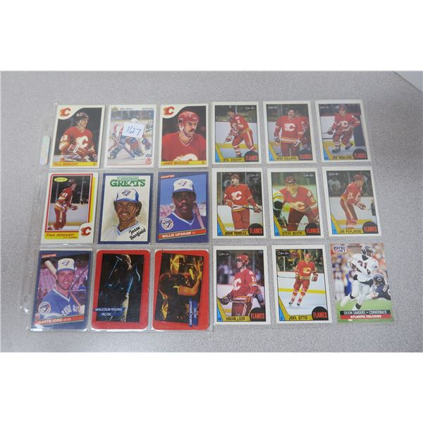 Various Calgary Flames NHL Hockey Cards and other NHL, MLB and NFL cards X26 cards